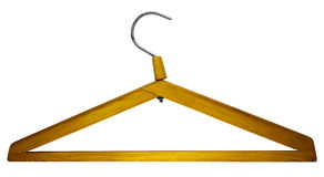 Wooden clothes hanger Stock Photo