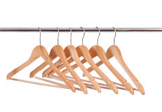 Wooden Clothes Hangers Royalty Free Stock Photos