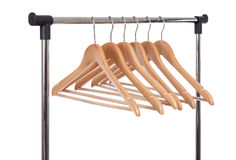 Wooden Clothes Hangers Royalty Free Stock Image
