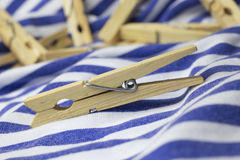 Wooden clothes peg Royalty Free Stock Photography