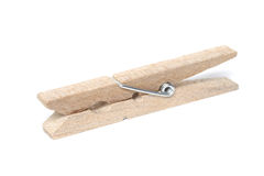 Wooden clothes peg Royalty Free Stock Image