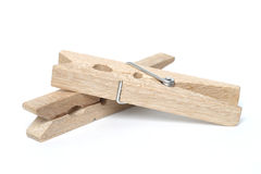 Wooden clothes peg Stock Image