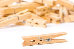 Wooden Clothes Pegs Stock Image