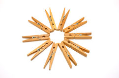 Wooden Clothes Pegs 2 Royalty Free Stock Photos
