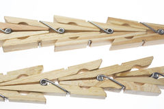 Wooden clothes pegs Royalty Free Stock Photo
