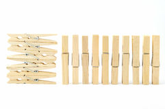 Wooden clothes pin Royalty Free Stock Photo