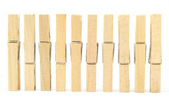 Wooden clothes pin Stock Image