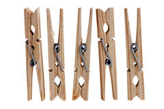 Wooden clothes pins Royalty Free Stock Images