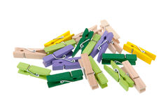 Wooden clothes pins Royalty Free Stock Image