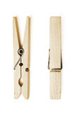 Wooden clothespin. On white background Royalty Free Stock Photography