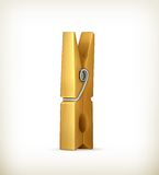 Wooden clothespin Royalty Free Stock Image