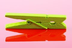 Wooden clothespin Stock Photography