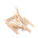 Wooden clothespin composition isolated Stock Images