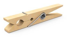 The wooden clothespin Stock Photos