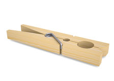 Wooden clothespin Royalty Free Stock Images