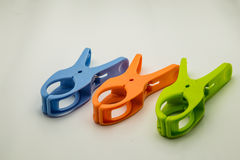 Wooden clothespin stock photo