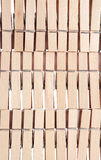 Wooden clothespin. Pattern of wooden clothespin background Stock Photo