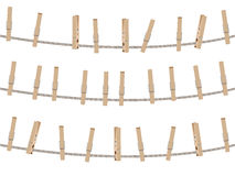 Wooden Clothespin Set Stock Image