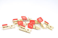 Wooden Clothespin Stock Image