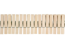 Wooden clothespin. Wooden clothespin on white background Royalty Free Stock Images