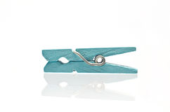 Wooden clothespin. On white background Royalty Free Stock Photo