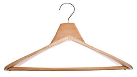 Wooden Clothing Hanger Royalty Free Stock Images