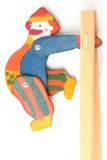 Wooden clown puppet isolated Stock Photography