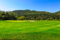 Wooden club island golf course Stock Photo