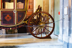 Wooden coach in Town Hall, Catania Stock Photos