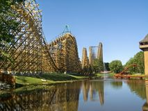 Wooden Coaster Royalty Free Stock Photos