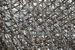 Wooden coaster scaffold construction Stock Photography