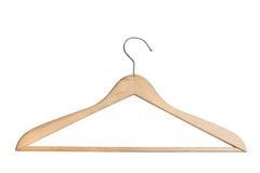 Wooden coat hanger Stock Photo
