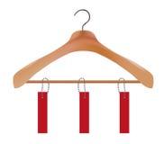 Wooden Coat Hanger Royalty Free Stock Photo