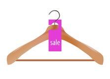 Wooden coat hanger Royalty Free Stock Images