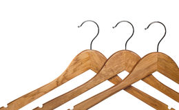 Wooden coat hanger Stock Photos