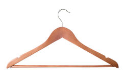 Wooden coat hanger Royalty Free Stock Image