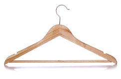 Wooden coat hanger cutout Stock Photo