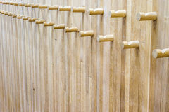 Wooden coat rack Stock Photography
