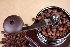 Wooden coffee grinder Royalty Free Stock Image