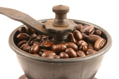 Wooden coffee grinder Stock Images