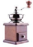 Wooden coffee grinder Royalty Free Stock Images