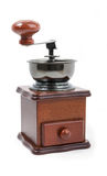 Wooden coffee grinder isolated Stock Photography