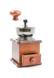 Wooden coffee grinder isolated Stock Photos