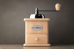 Wooden Coffee Mill. 3d Rendering Royalty Free Stock Photos