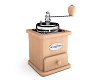 Wooden Coffee Mill Stock Image