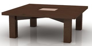 Wooden coffee table Royalty Free Stock Photo