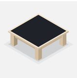 Wooden Coffee Table - Isometric Vector Illustration Stock Photos