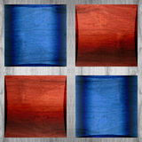Wooden coffered paneling - seamless pattern - red-blue color - w Stock Images