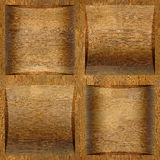 Wooden coffered paneling stacked for seamless background Stock Images
