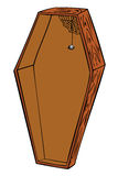 Wooden coffin. Royalty Free Stock Photography